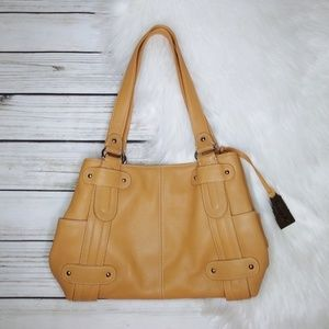 LIKE NEW TIGNANELLO TAN LEATHER SHOULDER BAG